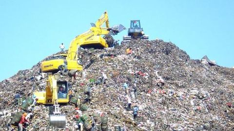 Mountain of construction waste responsible