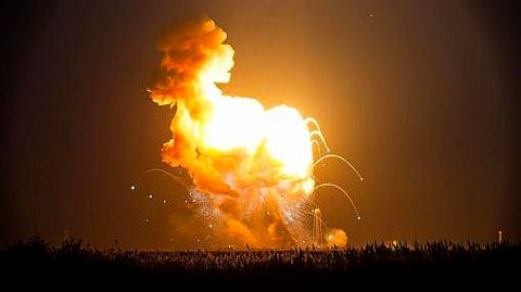 $200 million Antares Rocket explodes on launch
