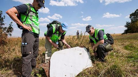 Human remains found at the crash site