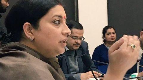 Smriti Irani was against sharing her educational information
