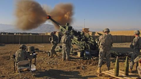 Howitzer damaged during field trial