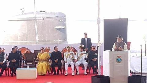 PM commissions submarine INS Kalvari into Navy