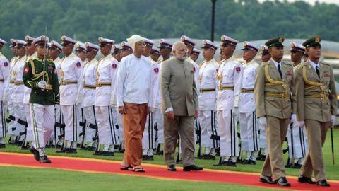 "Modi visits Myanmar to deepen ""historical relationship"""
