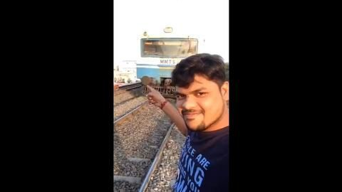 Hyd Man Attempts Selfie With Running Train, Gets Hit