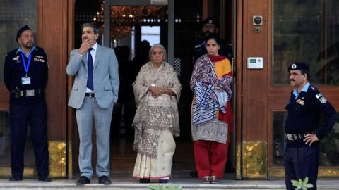 Kulbhushan Jadhav's wife, mother meet Sushma Swaraj upon return from Pakistan