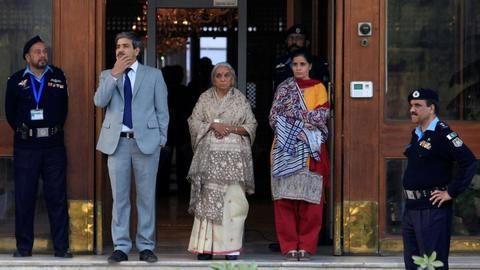 Family of Kulbhushan Jadhav meet Sushma Swaraj