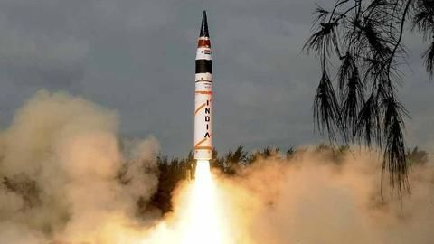 Nuclear-Capable Agni-5 Ballistic Missile Successfully Test-Fired