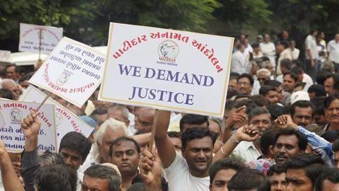 Patidars turn violent in Surat