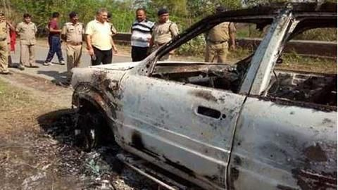 Charred body of Delhi builder found in car