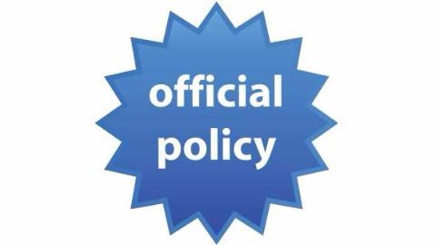 Scheme for execution of policy