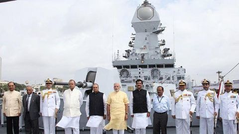 INS Kolkata commissioned into the Indian Navy