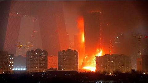 Hotel in Dubai catches a ghastly fire