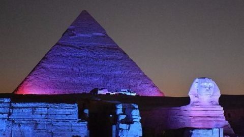 Egypt celebrates New Years at the Pyramids