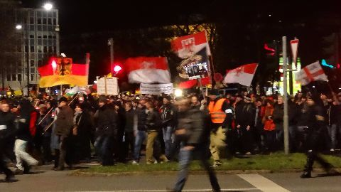 Anti-immigration campaigners protest