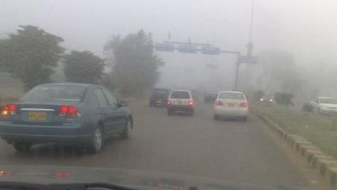 Over speeding on Expressway despite fog conditions