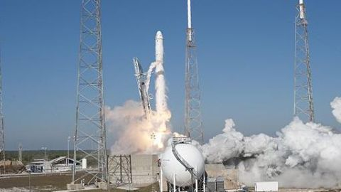 Space X sends telecommunications satellite into space