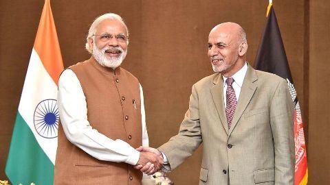 Modi and Ghani inaugurate the India-Afghanistan Friendship Dam