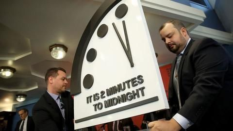 The Doomsday Clock Is the Closest It's Been to Midnight Since 1953